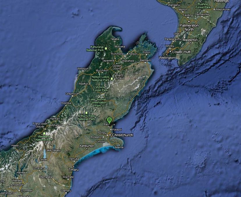 Rangiora New Zealand  city photo : Il terremoto della Nuova Zelanda e il cielo sopra Rangiora